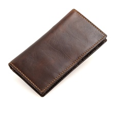 Genuine Leather RFID Blocking Wallet Mens Short Dollars Wallets Quality Guarantee R-8119Q