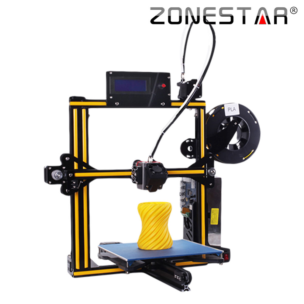ZONESTAR Newest Upgradable Full Metal Aluminum Frame Optional Auto Leveling Filament Run out Detect 3d printer DIY kit zonestar newest full metal aluminum frame big size 300mm x 300mm auto level laser engraving run out decect 3d printer diy kit