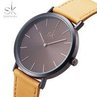 Shengke Top Brand Simple Style Women S Watches Minimalist Watch Women Watches Leather Fashion Ladies Watch