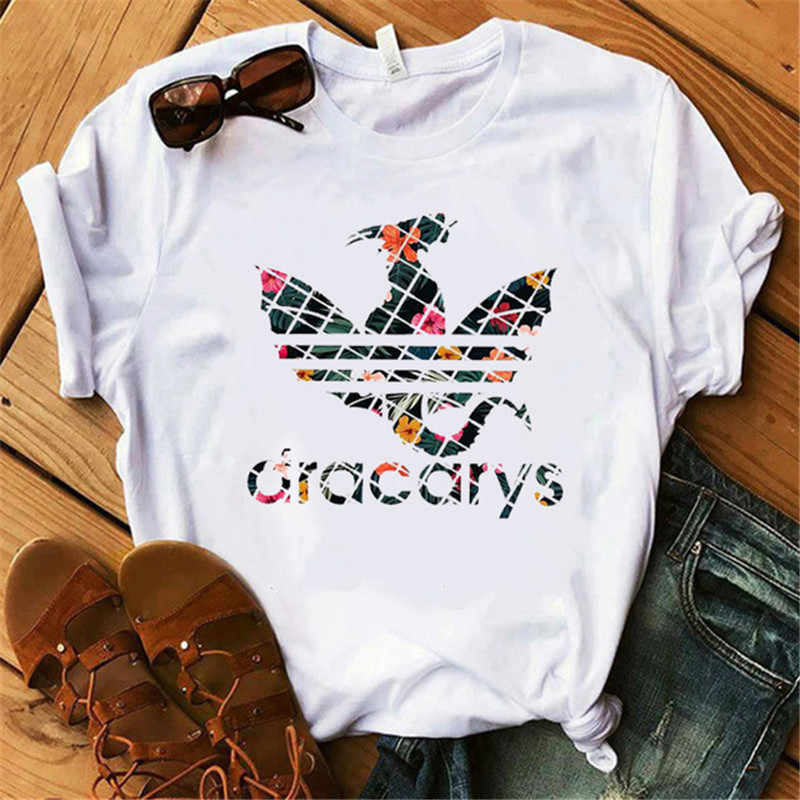 Fashion Game of Thrones Women Summer O-neck Dracarys Loose Casual Short Sleeve T-shirt Mother of Dragon Plus Size