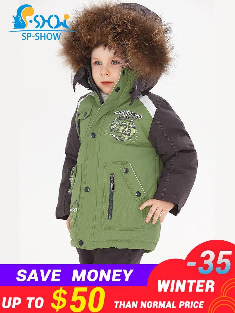 SP-SHOW marque de luxe enfants hiver veste de costume pour enfants garçon et fille manteaux enfants vêtements ensembles Ski Down & Parkas 0167