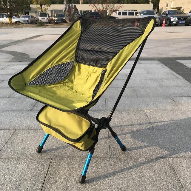 Portátil Montado Assento Fezes de Pesca Cadeira Dobrável Ultraleve Alumínio Durável Camping Caminhadas Praia de Jardinagem Ao Ar Livre Vermelho