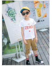 Children's clothes 2017 summer time new boy T-shirt summer time compassion trend boy ZERO Ode brief sleeve T-shirt Four-13T