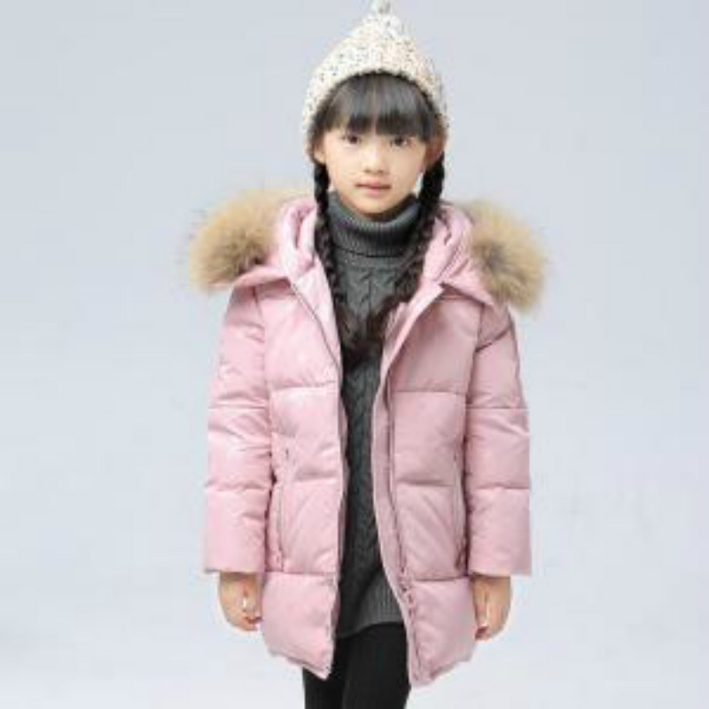 Girls Children's Down Jacket Children's Down Jacket In The Long Section Thickening 2018 Autumn and Winter New Tide Children Down girls down jacket long in the new fashion winter 2017 female children upset han edition tide leisure coat
