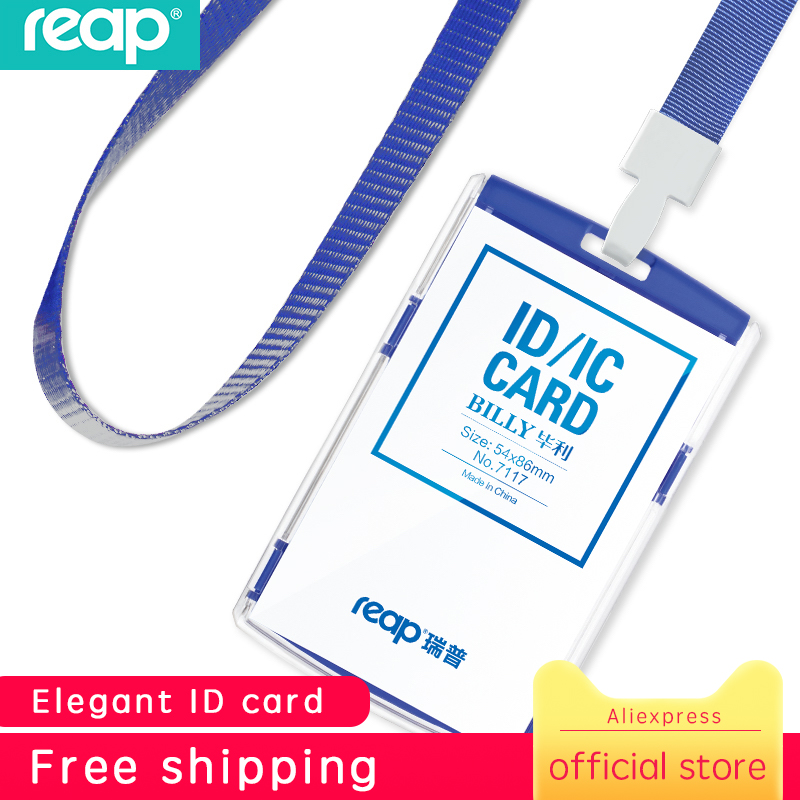 Reap Plastic Standard Size 54*86mm Exhibition Cards ID Card Holder Name Tag Staff Business Badge Holder Office