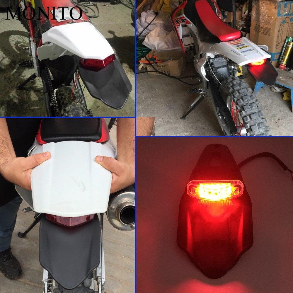Details about  /LED Rear Fender Brake Tail Light For Kawasaki KX250F KX450F KDX125SR KDX250SR