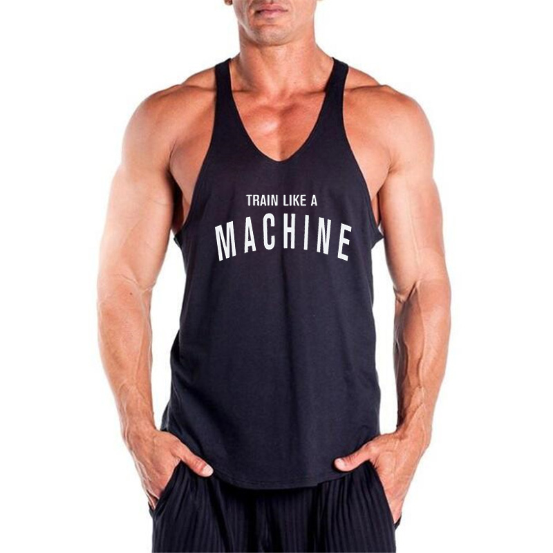New Gyms Stringer Tank Top Mens Bodybuilding Clothes Fitness Men Singlet Sleeveless Shirt Cotton Workout Vest Muscle Tanktop