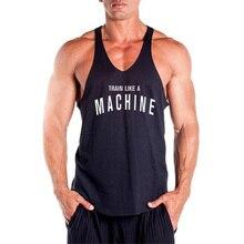 New Gyms Stringer Tank Top Mens Bodybuilding Clothes Fitness Men Singlet Sleeveless Shirt Cotton Workout Vest Muscle tanktop