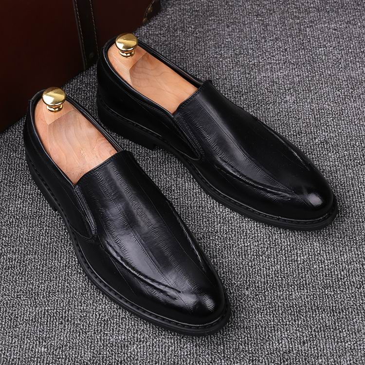 Sapatos Masculina Loafer Do Mocassim Marrom Vestido Lazer Para Redondo Negra Pé Couro Zapatos Errfc De marrom Homem Casuais Maré Dedo Preto Moda Pu SnF5px