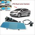 "For KIA RIO Car Rearview Mirror Video Recorder Car DVR FHD 1080P WDR Dual Camera Novatek 96655 5"" IPS Screen Car Black Box"