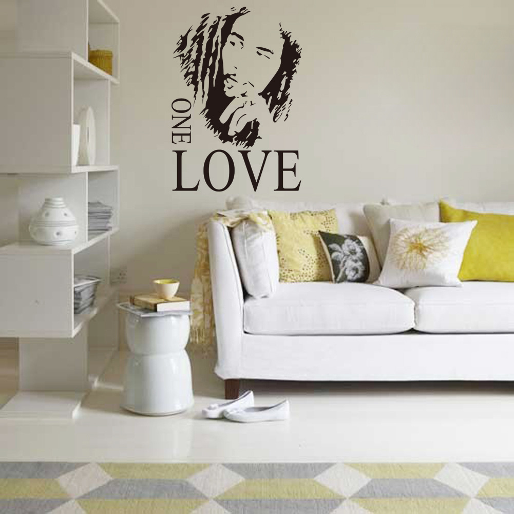 US $7.29 |1 set 17*24 inch Bob Marley Living Room Music Vinyl Wall Art  Decals Bedroom Wall Stickers Book Shelf Decoration Wallpaper-in Wall  Stickers ...