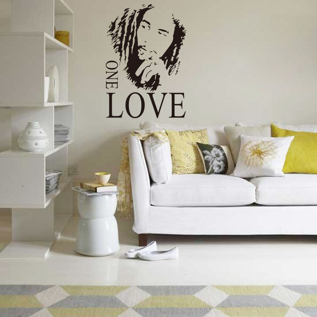 1 Set 1724 Inch Bob Marley Living Room Music Vinyl Wall Art Decals Bedroom