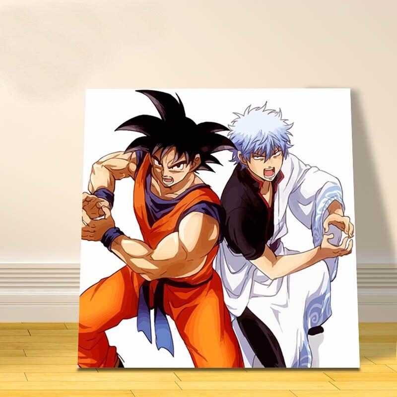 Us 126 10 Offdigitalen Malen Nach Zahlen Dragon Ball Modulare Malerei Japan Cartoon Bilder ölgemälde Durch Zahlen Geschenk Für Kinder Anime
