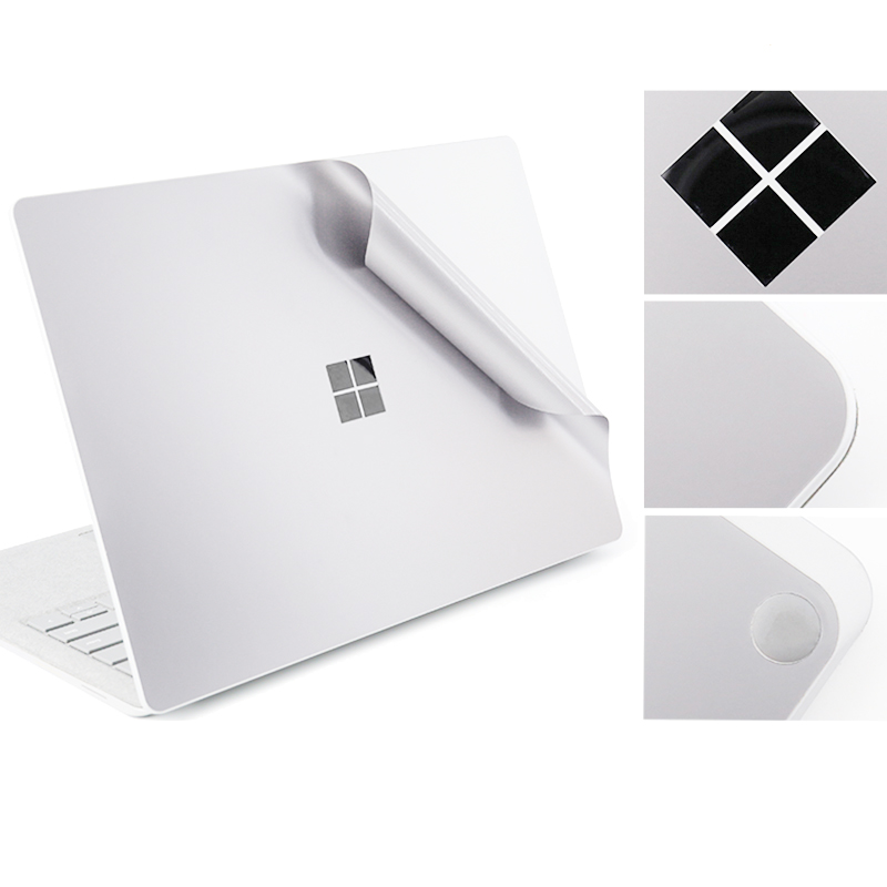 For Microsoft Surface Silver Surface Laptop Body Decals Protective Skins Precisely Fit Cover Laptop Body Sticker Full Protector