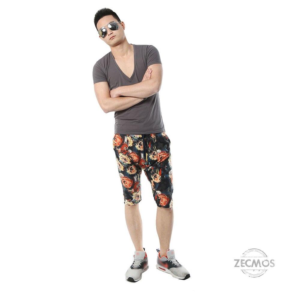 Zecmos Deep V Neck Sexy Men T-Shirt Vintage Short Sleeve Solid Color Muscle Fit T Shirt Men Top Tees Fashion 33