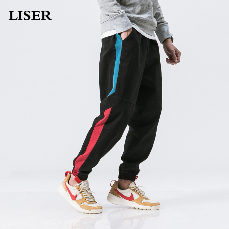Liser Casual Pants Men 2019 Joggers Pants Streetwear Sweatpants Pantalones Hombre Loose Hip Hop Cargo Pants Men