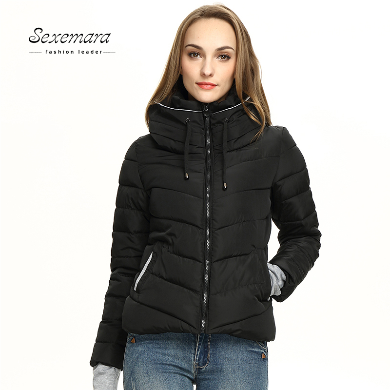 Winter Jacket Padded Women Cotton Short Jacket New Girls Slim Hooded Warm Parkas Stand Collar Coat Female Autumn Outerwear 2017 2017 winter new warm thick long coats for women stand collar slim parkas outerwear cotton padded jacket overcoat xxl