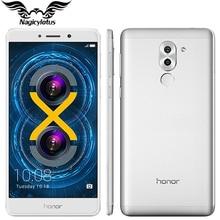 Original huawei honor 6x4g lte teléfono móvil kirin 655 octa Core 5.5 pulgadas 4 GB 64 GB de Doble Cámara Trasera 12 + 2 MP 1920*1080 de la Huella Digital