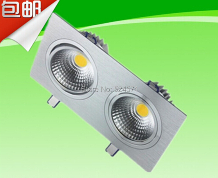 Free Shipping 5x2W Double LED COB Ceiling downlight Recessed Cabinet Lamp AC100-245V For Living Room illumination energy-saving new products listed recessed led downlight cob 30w 40w led spot light led ceiling lamp ac85v 245v free shipping