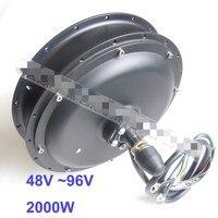 48 v/60 v/72 v/96 v 2000 w motor do cubo para bicicleta elétrica bicicleta/ebike 26 polegadas|Motor p/ bicicleta elétrica| |  -