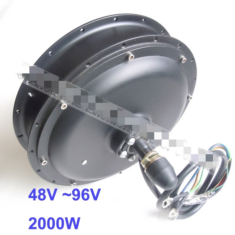 48V/<font><b>60V</b></font>/72V/96V <font><b>2000W</b></font> hub <font><b>motor</b></font> for electric bike bicycle/ebike 26inch image