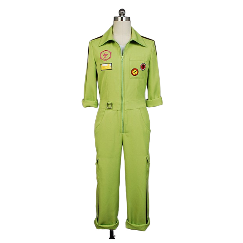 Image 2 - Super DanganRonpa Cosplay Kazuichi Costume Kazuichi Souda Full Set Uniform Jumpsuit With Hat Outfit Halloween Costume vest wig-in Movie & TV costumes from Novelty & Special Use