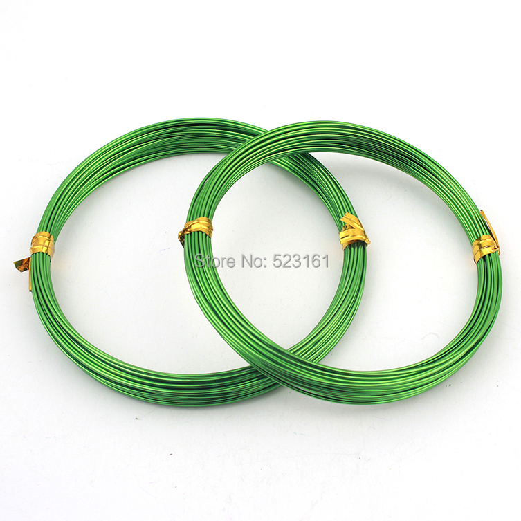 18 gauge grass green anodized aluminum wire coil for for 10 gauge craft wire