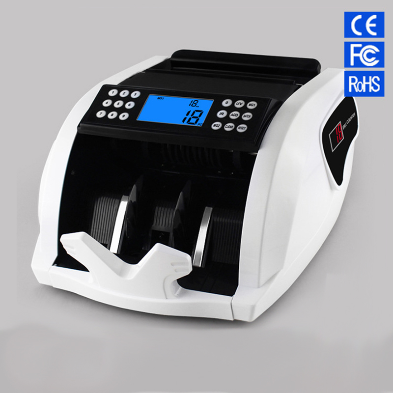 FT2050 Money counter New LCD Display Money Bill Counters Counterfeit Detector UV MG Cash Bank 110V