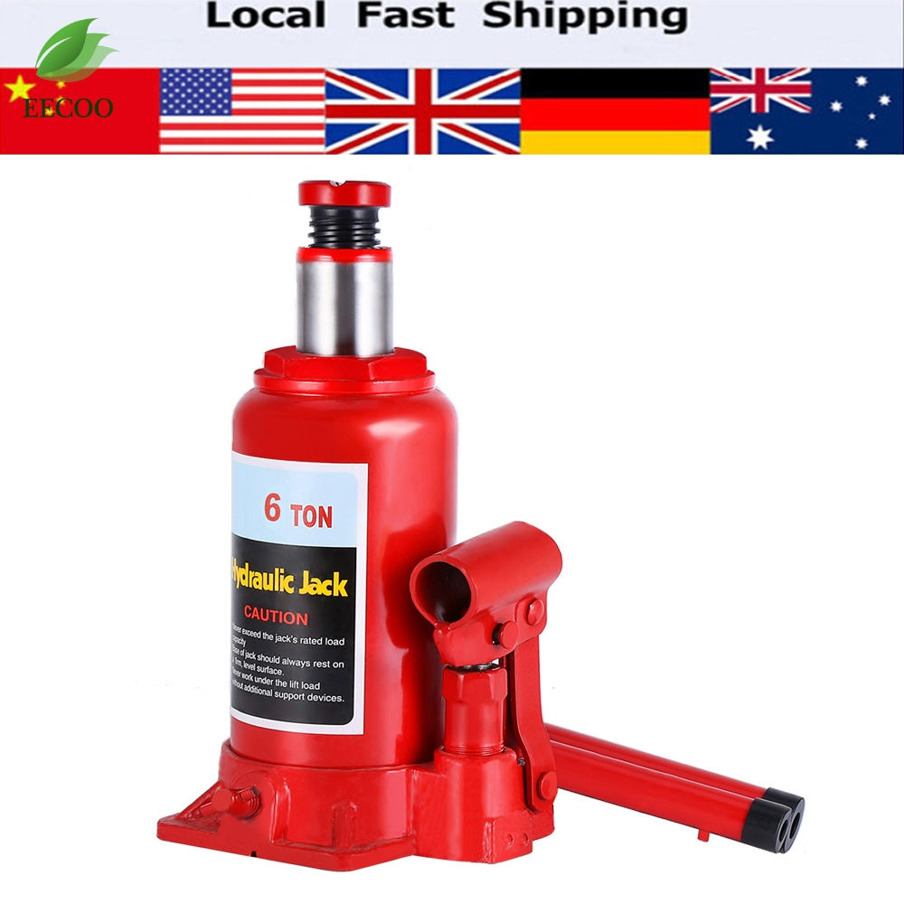 6 T Heavy Duty Hydraulic Bottle Jack Lifting Car Van