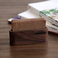 2015 Creative Wooden Business Card Box Large Capacity Name Card Holder Desktop Display Stands