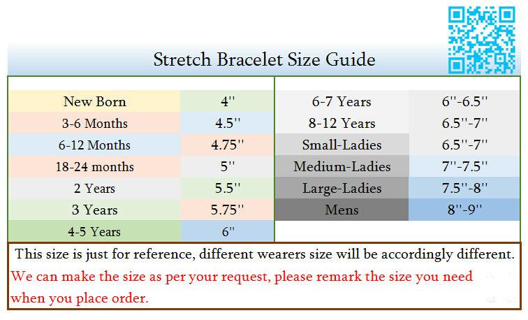 Stretch Bracelet Size Guide