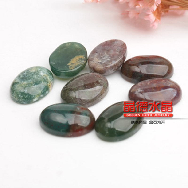 Round Oval Red Aventurine Cabochon Beads For Jewelry Ring Pendant Making 5Pcs