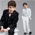 Мода Мальчики Дети Блейзеры Костюмы Мальчика Костюм для Свадьбы Детей Формальные Свадебные Костюмы Мальчика (Куртка + Брюки + Жилет) на Заказ