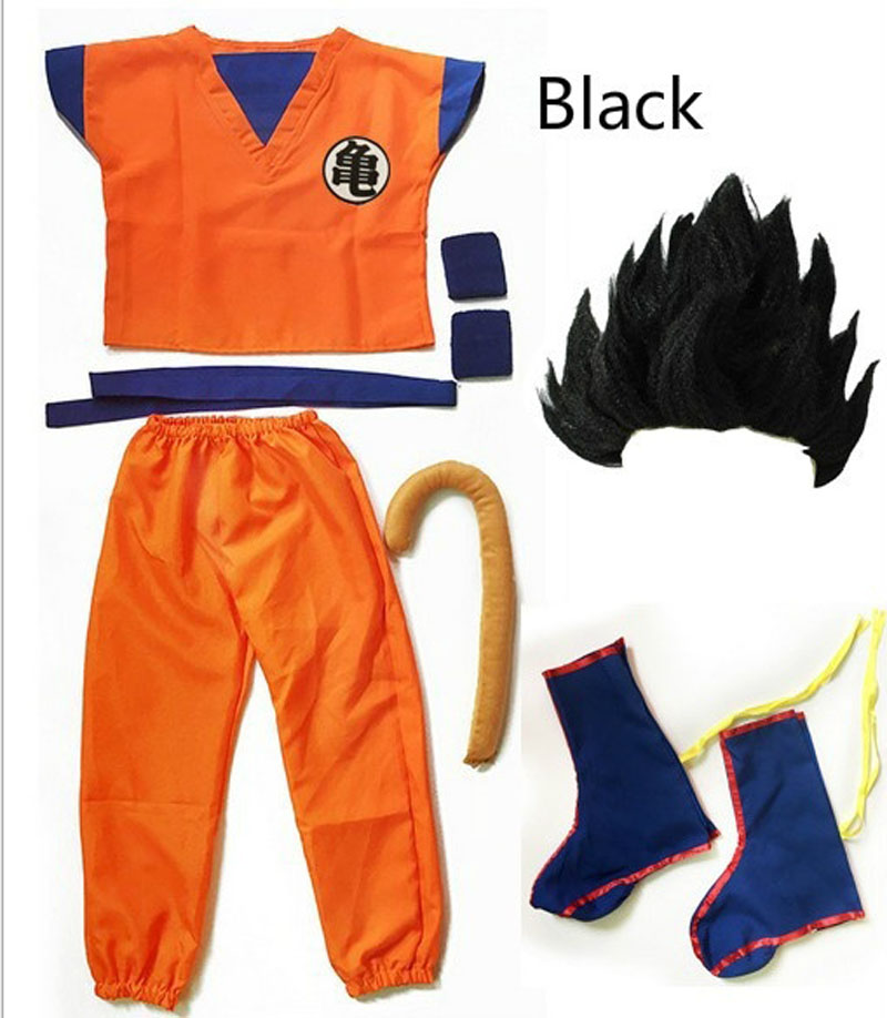 Adult Dragonball Kids Dragon Ball Z Son Goku Cosplay Costume Suit Halloween Dress
