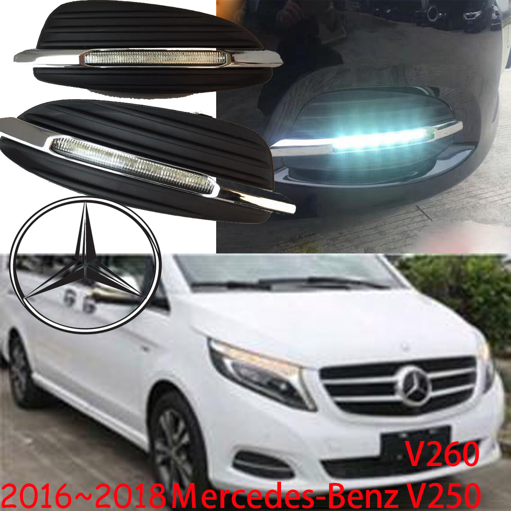 V250 V260 daytime light;2016~2017, Free ship!LED,V250 V260 fog light,190E,200T,280TE,A200,B180,B200,C200,SL320,SL400,Vito;Viano-in Car Light Assembly from Automobiles & Motorcycles