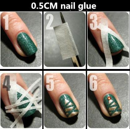 Creative Nail stickers tape masking tape to make nail polish tool ...