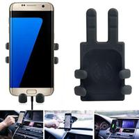 2018 Portable Universal Qi standard Wireless Charger Transmitter Holder for Samsung Galaxy S7/S7 Edge phone charger A23