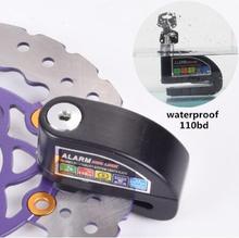 цены 2019 newest Bicycle Motorcycle Waterproof Security Lock Motorcycle Disc Brake Alarm Lock Bicycle Lock 8 color Aluminum alloy