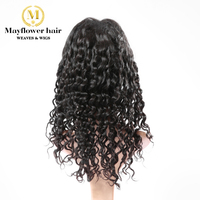 Mayflower Virgin Hair Full lace wig Loose deep wave 150% density bleached knot Hand tied with baby hair Natural color can be dye
