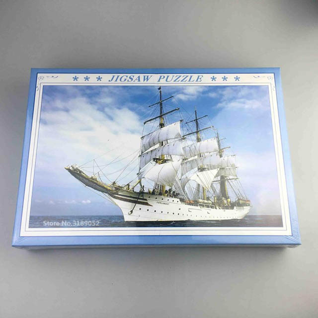 2018 Hot selling puzzle 1000 pieces paper jigsaw puzzle Blue Sky with Deep Sea paper adult kids jigsaw puzzles box packing 2
