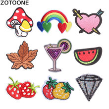 ZOTOONE Sequin Patches Stripes for Clothes Embroidery Patch Iron on Letters Heart Applique Alien E