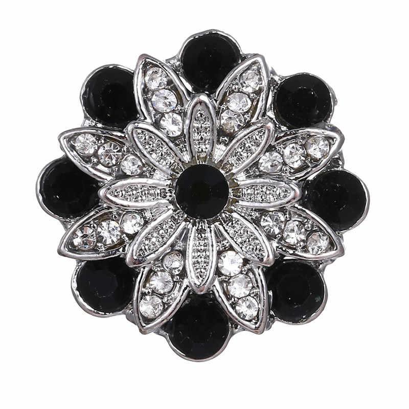 """Kryształ kwiat 3 kolor Snap biżuteria przyciski Fit amulet ze stali nierdzewnej, proszę kliknąć na przycisk """" bransoletka Wedding Party biżuteria akcesoria hurtownie"""