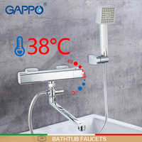 GAPPO Badewanne Armaturen chrome bad dusche wand thermostat badewanne armaturen mixer griferia thermostat bad badewanne armaturen
