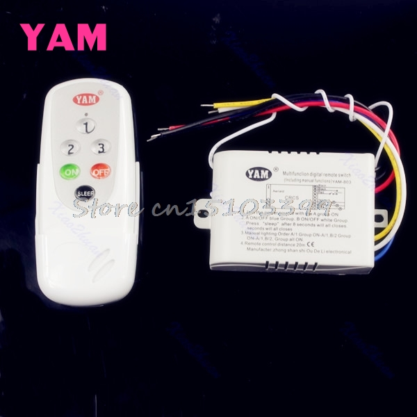 3 Ways ON/OFF 220V-240V Light Digital Wireless Wall Switch + Remote Control New G08 Drop ship 4 ways on off 220v wireless receiver lamp light remote control switch electrical equipment supplies