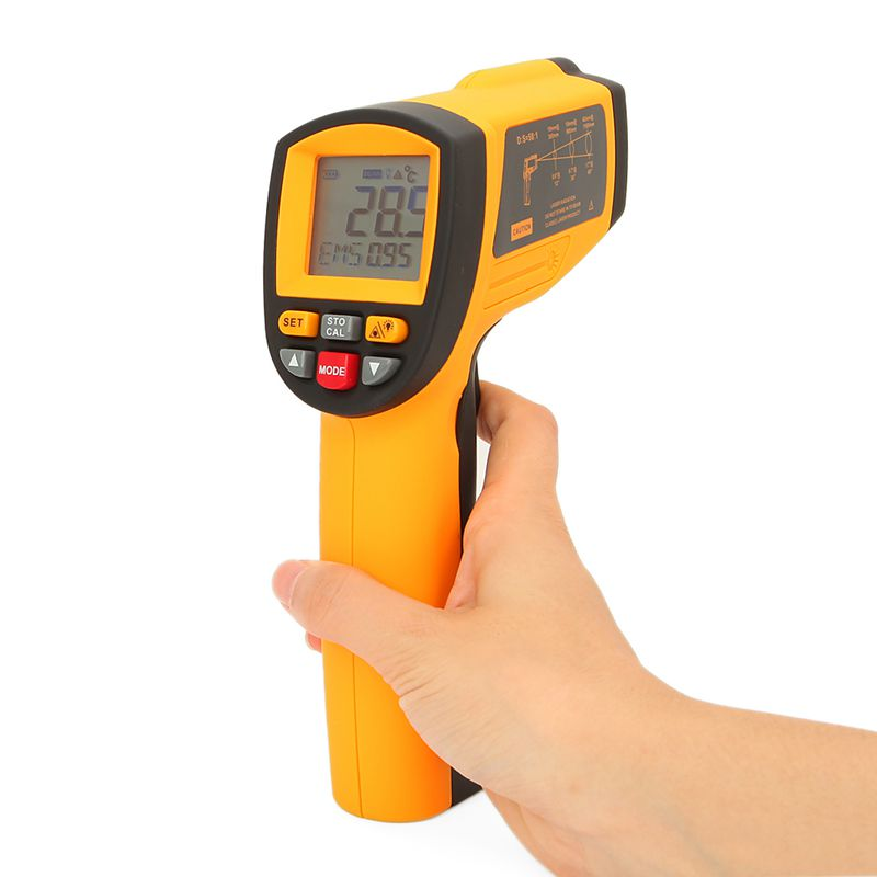 GM1150A 50:1 Infrared Thermometer -18~1150 Degrees Celsius LCD Digital Temperature Meter Industrial Pyrometer 0.1~1EM Adjustable dc12v 24v digital meter 20 100 degrees celsius thermometer dual display temperature meter for car water air indoor outdoor etc