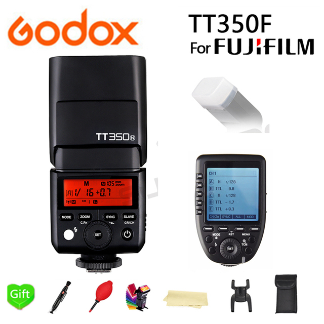 GODOX Mini TT350F Speedlite TTL HSS 2.4GHz 1/8000 s GN36 Flash Pocket lights TT350 + Xpro-F Trigger for Fujifilm fuji Cameras
