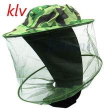 Fishing Caps 32 x 21.5cm Midge Mosquito Insect Hat Bug Mesh Head Net Face Protector Travel Camping Sun Hat