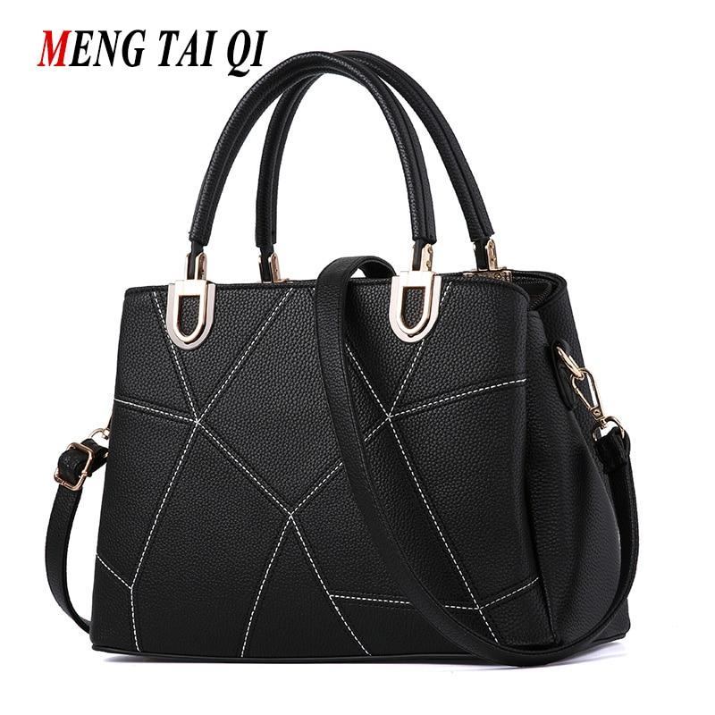 New Arrivals Leather Handbags Patchwork Women Bag 2017 Fashion Messenger Bag Shoulder Bags Black Ladies Tote Bolsas Brand 3