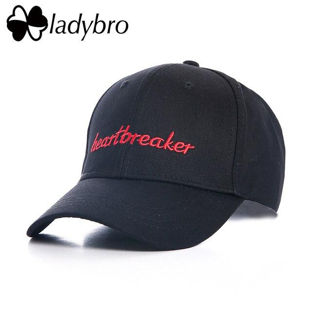 Ladybro heartbreak Women Baseball Cap Men Cotton Cap Female Casual Snapback Hat Cap Lady Drake Dad Hat Letter Black Bone Male