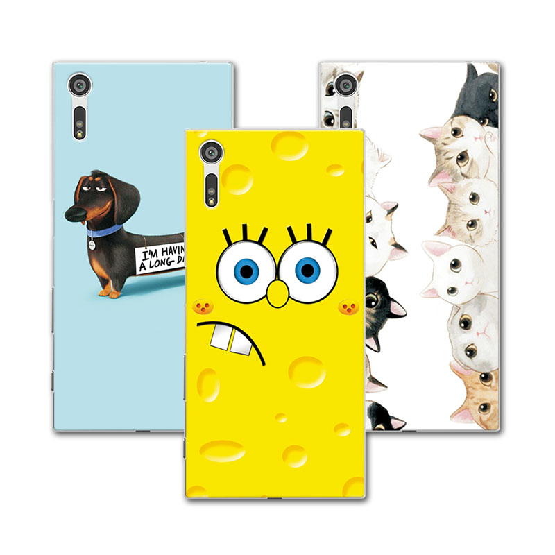 For Sony XZ Soft Silicone Case For Sony Xperia XZ Case Bear Painting Protector FOR Sony Xperia XZ Case 5.2 Case ...